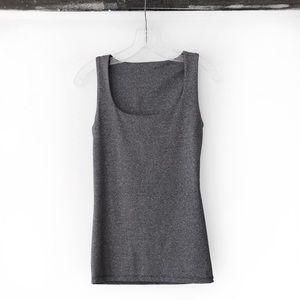 Zara heathered grey seamless smooth tank top